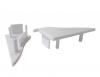 Coppia TAPPI plastica TC4001per Profilo Alluminio PLE4001