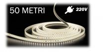 Strip LED 220V 2835-104 LED/m da 50 Metri bianco neutro 4000K IP68 12W/m