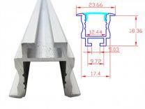 Profilo Alluminio Incasso 1 Metro PLI2620 per Strip LED