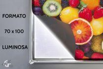 Cornice a scatto LED formato 70x100 cm per locandine pubblicitarie