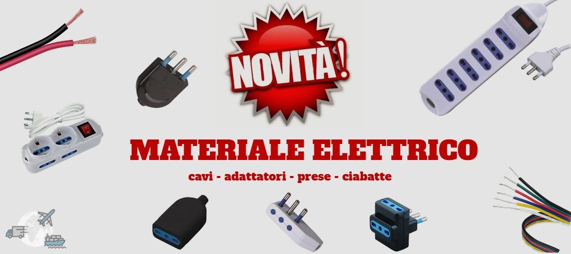 NOVITA' MATERIALE ELETTRICO