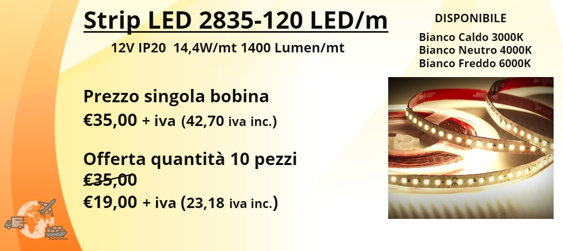 STRIP LED 2835-120 LED