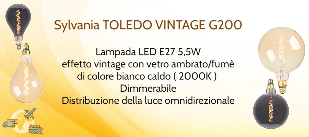 LAMPADA SYLVANIA TOLEDO VINTAGE G200